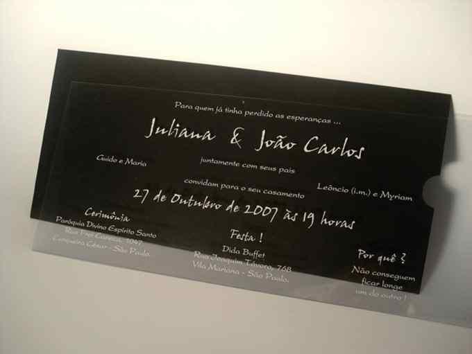 Convites em Acrílico